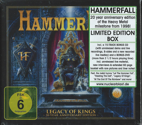 "HAMMERFALL ""Legacy Of Kings (20 Year Anniversary Edition)"""